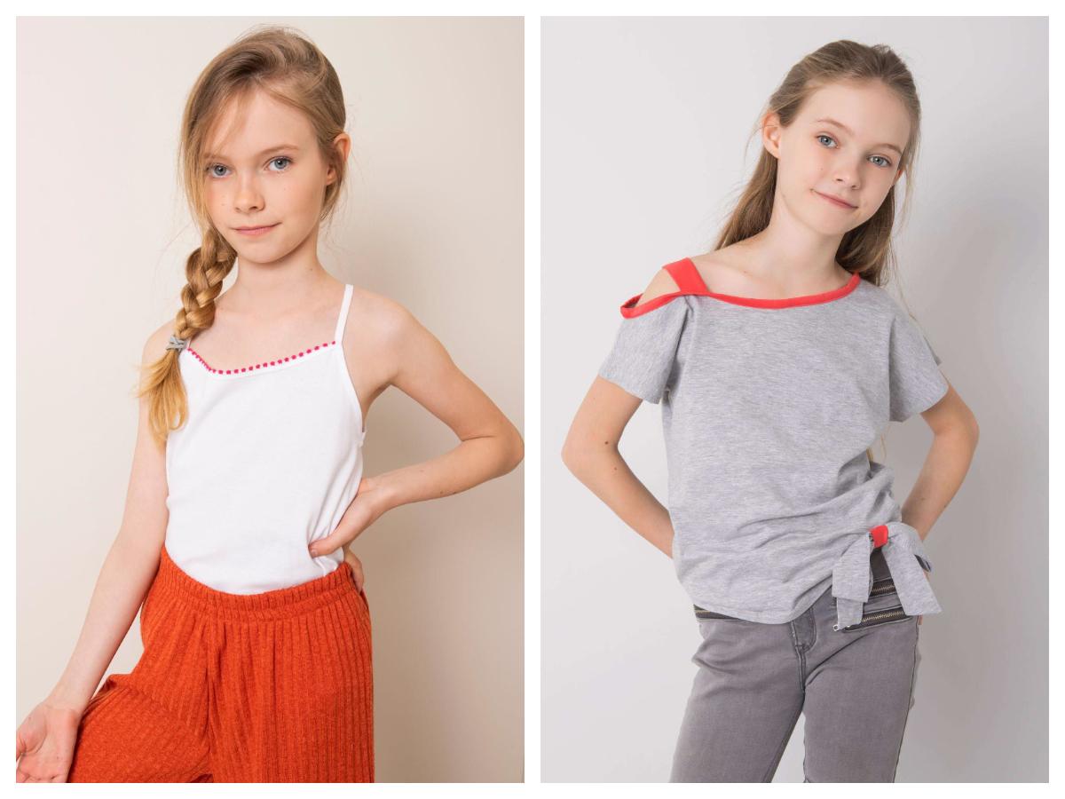 bawełniane ubrania dziecięce - koszulki